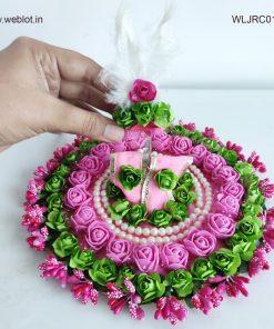 WEBLOT-Beautiful-green-pink-rose-dress-for-laddoo-gopal.jpg