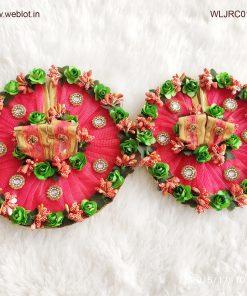 WEBLOT-Beautiful-green-rose-pink-dress-for-laddoo-gopal.jpg