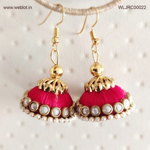 WEBLOT-Golden-pink-white-pearl-earing