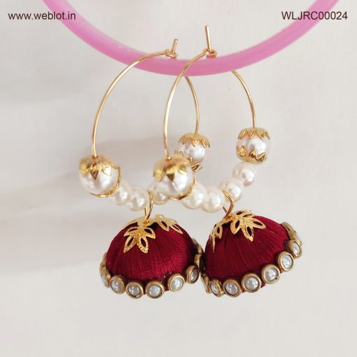 WEBLOT-Golden-red-white-pearl-earing