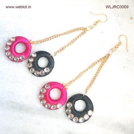 WEBLOT-black-pink-earing