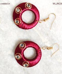 WEBLOT-dark-pink-earing